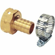 "Garden Hose End Repair Hose Coupling 5/8"" Female WITH HEAVY DUTY CLAMP"