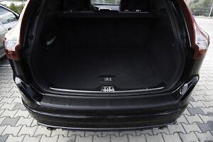 Rear Bumper Profiled Sill Scuff Plastic Protector for Volvo XC60 2013-2017