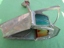 Feu navigation bicolore laiton chromé ancien qualité marine bateau voilier