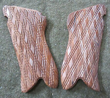 WWI WWII GERMAN P08 P-08 LUGER WOODEN PISTOL GRIPS REPLACEMENTS-DIAMOND