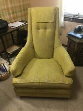 Gold Queen Anne chair upholstered (from 1960s)
