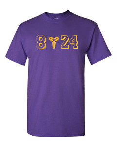Kobe T-shirt Bryant T-Shirt GOAT Black Mamba 8 24 Logo LA Lakers Tees Shirt
