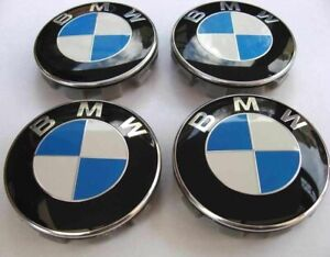 Set of 4 68mm Wheel Centre Caps Fits BMW Blue White Fits Most 1 3 5 7 Series