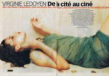 Coupure de presse Clipping 2001 Virginie Ledoyen  (4 pages)