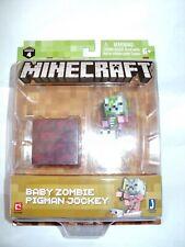 MINECRAFT SERIES 4 Core Figure & Accessories -  Baby Zombie Pigman Jockey - MISB