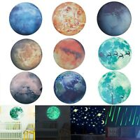 Luminous Glow in the Dark Moon Star Wall Sticker Kids Baby Bedroom Decal Decor