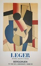 Fernand Leger Affiche en Lithographie art abstrait cubisme Léger Berggruen