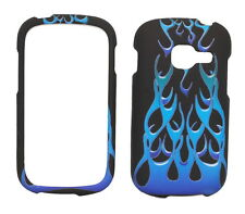 Blue Flame Fire Rubberized Case for Samsung Galaxy Centura S738C S730G Discover