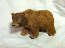 Wild Brown Grizzly Bear Animal Figurine - recycled rabbit fur