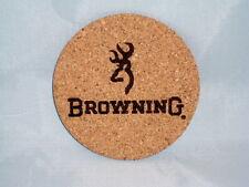 "Browning Drink Coasters Set of 4 - CORK 4"""