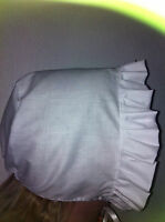 victorian edwardian adult baby fancy dress white bonnet cap hat white sissy maid