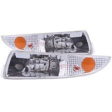 Set of Pair Euro Clear Bumper Signal Lights for 1993-2002 Chevrolet Camaro