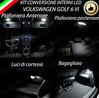 KIT LED INTERNI VW GOLF 6 VI CONVERSIONE COMPLETA 6000K CANBUS NO ERRORE