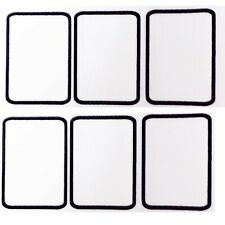 10 Blank rectangle printable patches with embroidered border 100mm x 50mm