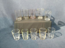 Jelly Jam Jars Anchor Hocking Antique Ribbed Rims Vintage Clear Glass 10 pcs