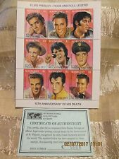 Elvis Presley15th Anniversary of Death Postage Stamp St. Vincent with COA #C5508