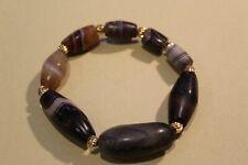 2000yrs+ ancient western asian/ Tibetan banded agate bracelet #201812