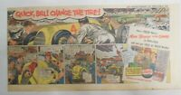 Pepsi-Cola Ad: Car Racing Quick Change The Tire ! from 1940's  7.5 x 15 inches