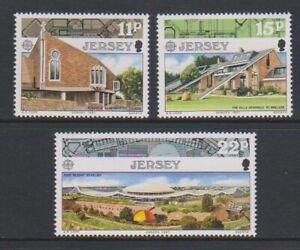 Jersey - 1987, Europa, Modern Architecture set - MNH - SG 414/16