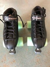 Riedell R3 Black Quad Roller Derby Speed Skates Men Size 7 (women's 8-8.5)