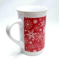 Coffee Cup Mug Christmas Snow Flake Red - Royal Norfolk