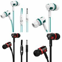 Universal 3.5mm In-Ear Stereo Earbuds Earphone Mic For Samsung For iPhone LG