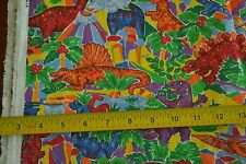 """By-the-Half-Yard, 44"""" Wide, Bright Dinosaurs on Quilters-Cotton, Princess, M4228"""