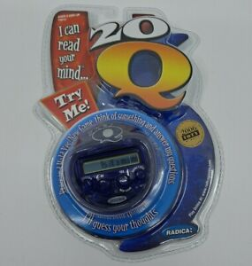Radica 20 Questions Handheld Electronic Game 20 Q Version New Sealed Purple/Blue