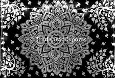 Indian Mandala Wall Hanging Tree Tapestry Black And White Bedspread Dorm Decor