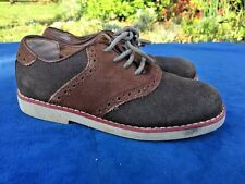 Florsheim For Kids Wing Tip Saddle Oxfords Dress Casual Leather Boys Shoes Sz 12