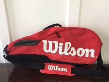 Wilson Tour Multiple Tennis Racket Bag Molded Red And Black. With Shoulder Strap