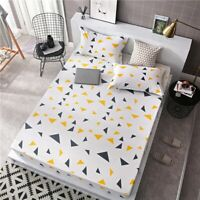 Household Floral Quilt Polyester Cover Set Double Queen King Size Bed Bedding