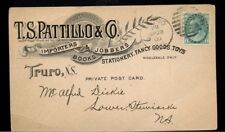 1900 post card 1c Numeral Truro NS advertising  Canada