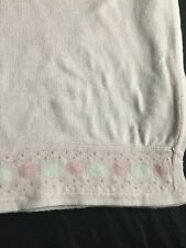 First Impressions Baby Blanket Pink Cotton Security Lovey