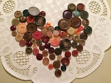 VTG lot Fall colors plastic vegetable ivory composition buttons crafts #3
