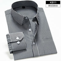 Mens Long Sleeves Shirts Business Work  Slim Fit Striped Dress Multicolor WC6491