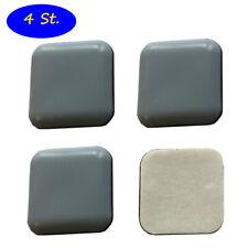 4 Stück Teflongleiter, Möbelgleiter, Bodenschutz grau, 50 x 50 mm, selbstklebend