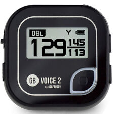 GolfBuddy voz 2 hablando Telémetro Golf GPS, Negro