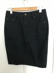 Country Road Navy Cotton Denim Skirt Size 8