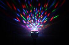 Kam LED Luz giratoria para fiesta moonbulb Rgb Para Dj Disco Multi Color Inc Adaptadores