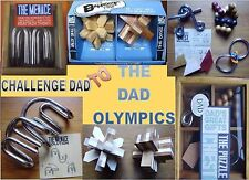 "Dad Gift ""DAD OLYMPICS"" Bamboo Wooden &Metal Puzzles Box Ideal Family Fun Gift#1"