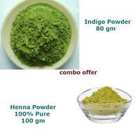 natural hair color - 100% pure Henna and Indigo Powder Combo