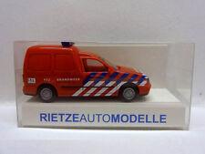 Rietze 50848 Volkswagen Caddy Kasten Brandweer Amsterdam Niederlande 1:87 Neu