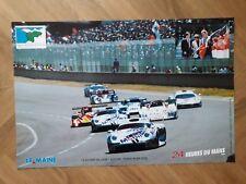 Affiche Automobile 24 HEURES DU MANS 1996  Le départ de la 64ème édition PORSCHE