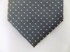 "WRK $125 MEN Black Polka Dot Skinny WIDTH 3"" DRESS SHIRT NECK TIE 100% Silk L05"