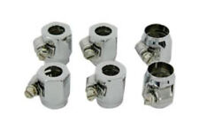 """HEX CHROME ECONO SEAL HOSE END FOR BRAIDED FUEL OIL LINES 3/8""""OUT 5/8"""" IN 6-PACK"""