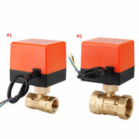 AC 220V ottone 1/2 Elettrico Sfera Motorizzata Valvola 2 vie 3 fili DN15 DN25