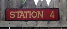 CUSTOM FIRE DEPARTMENT STATION  WOOD SIGN HAND PAINTED MADE TO ORDER