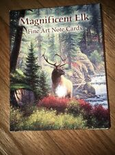 2 Packs Of 12 Leanin Tree Note Cards Magnificent Elk Fine Art Full Color USA New