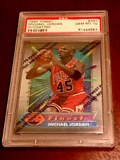 PSA 10 MICHAEL JORDAN 1994-95 Topps Finest w/Coating Bulls RARE G.O.A.T. FIRE!!